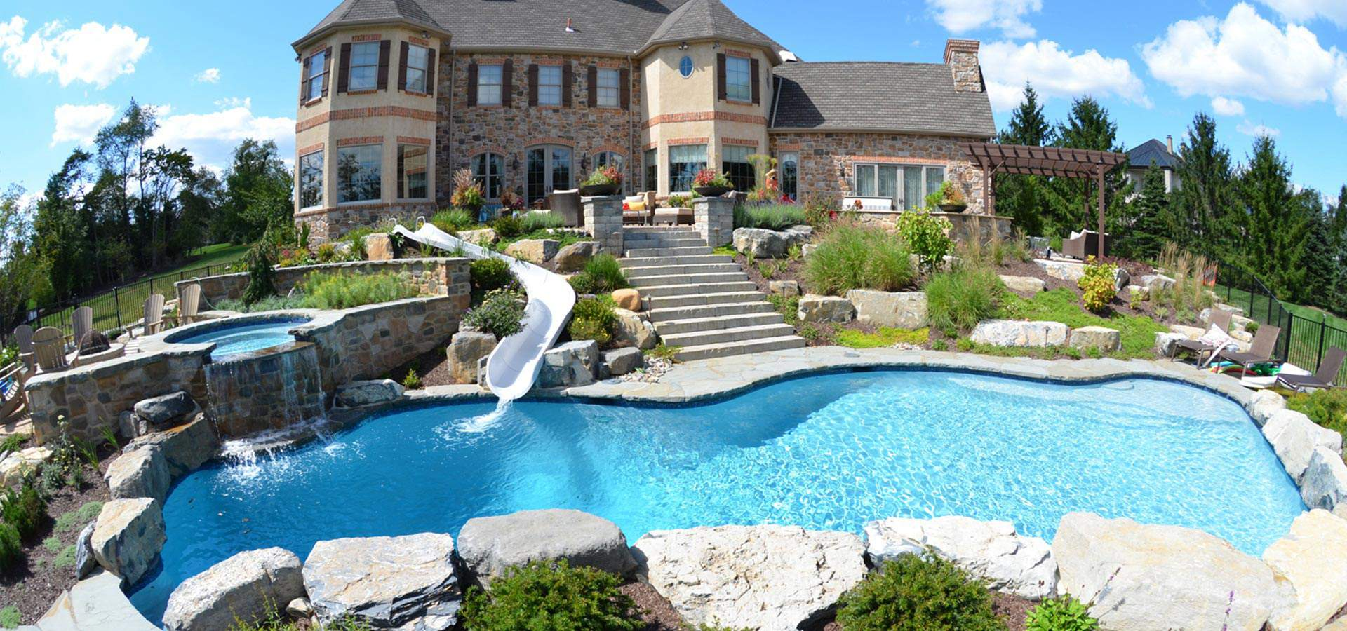 1 pool builder in lehigh valley pa best inground pools for Large swimming pool designs