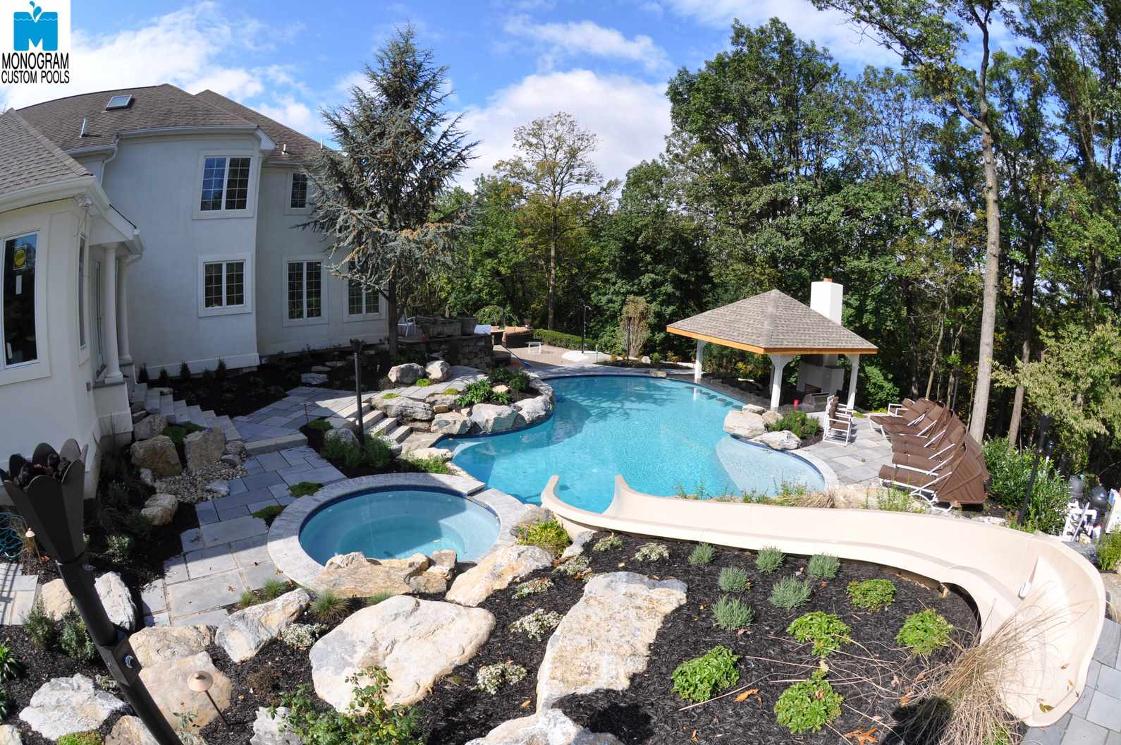 1 inground pool builders contractors in bethlehem pa for Custom pool builder