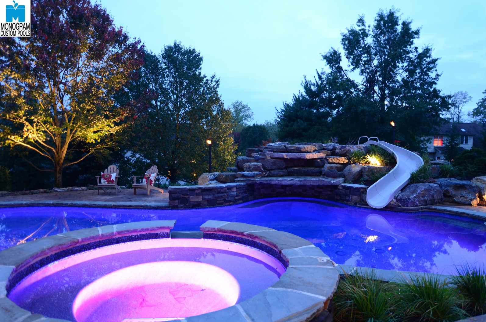 1 inground pool builders contractors in lehigh county pa for Custom pool builder