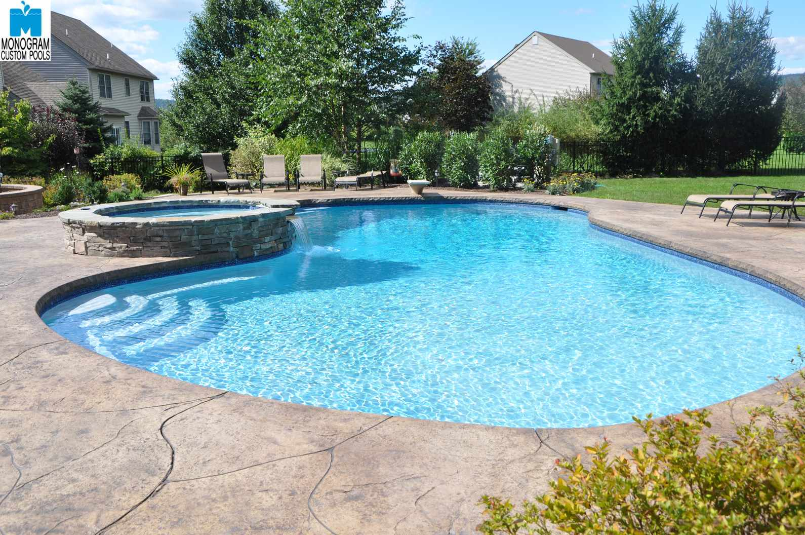 1 in ground swimming pool builder in lehigh county for Custom pool builder