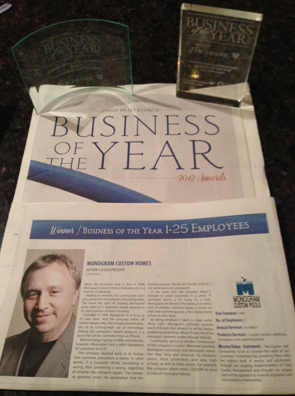lehigh valley businees of the year award